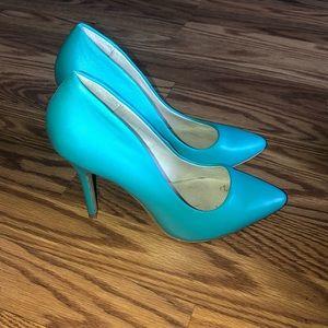 Teal Aldo heels